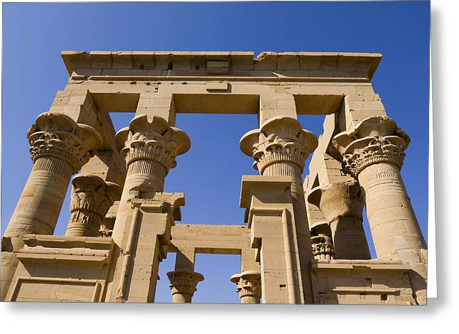 Hathor Greeting Cards - Philae Temple Egypt Greeting Card by Brenda Kean