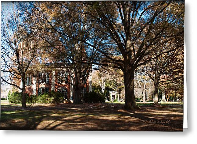 Nature Study Digital Art Greeting Cards - Philanthropic Hall and The Well - Davidson College Greeting Card by Paulette B Wright