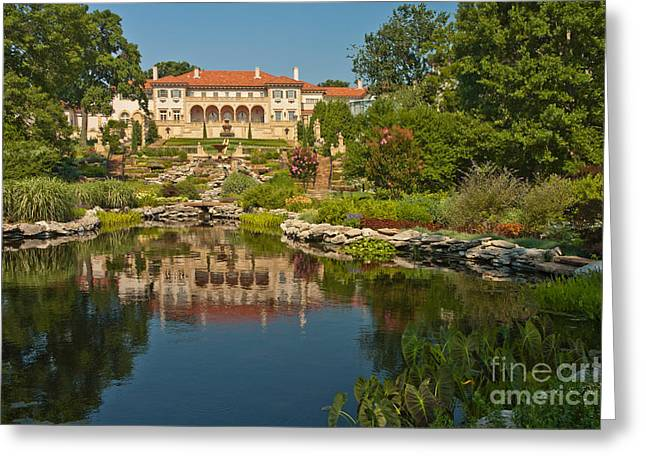 Art Of Building Greeting Cards - Philbrook Museum Of Art, Oklahoma Greeting Card by Richard and Ellen Thane