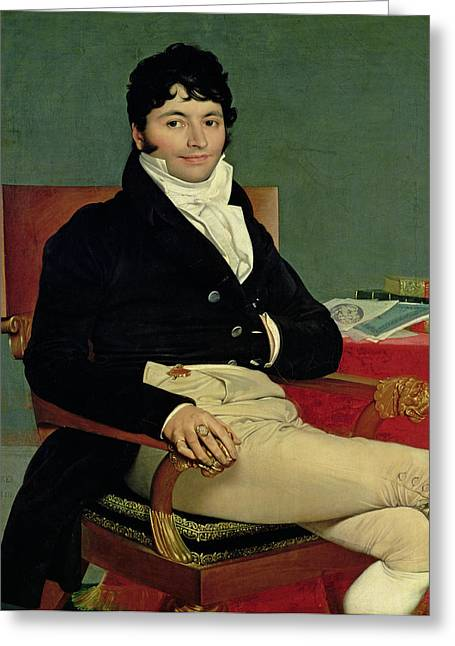 Statesman Greeting Cards - Philibert Riviere 1766-1816 1805 Oil On Canvas Greeting Card by Jean Auguste Dominique Ingres