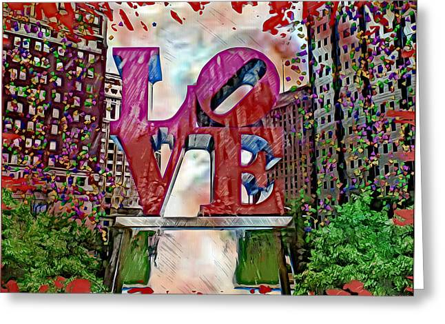 """jfk Plaza"" Greeting Cards - Phililove Greeting Card by Daniel Janda"