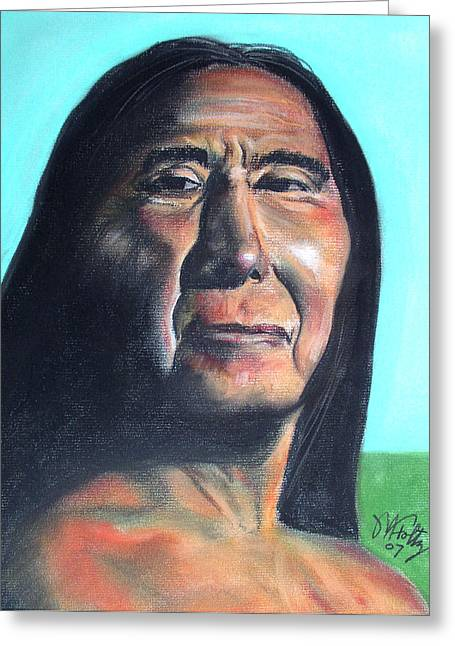 Native American Nude Woman Greeting Cards - Philip Greeting Card by Michael Foltz