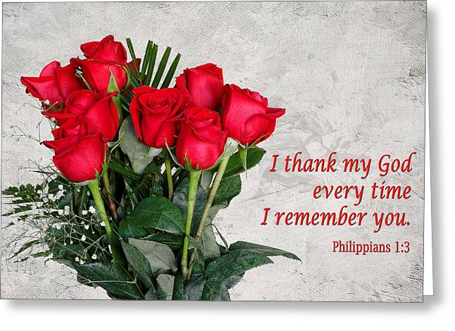 Testament Greeting Cards - Philippians 1 Greeting Card by Dawn Currie