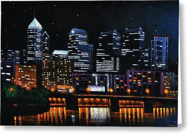 Phillie Paintings Greeting Cards - Phillie Greeting Card by Thomas Kolendra