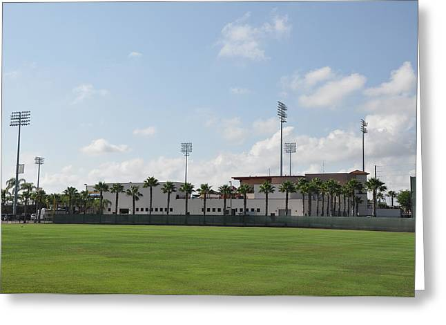 Phillies Digital Greeting Cards - Phillies Brighthouse Stadium Clearwater Florida Greeting Card by Bill Cannon