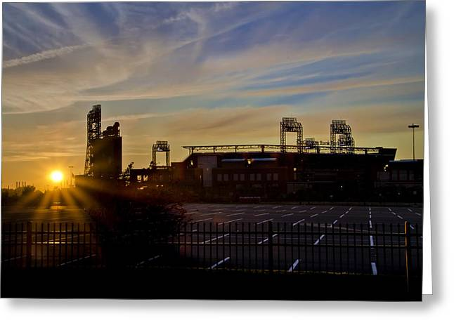 Philadelphia Phillies Stadium Digital Greeting Cards - Phillies Citizens Bank Park at Dawn Greeting Card by Bill Cannon
