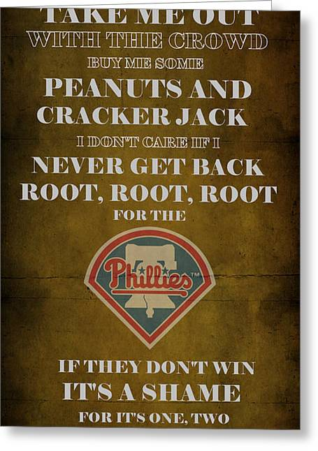 Phillies Art Digital Art Greeting Cards - Phillies Peanuts and Cracker Jack  Greeting Card by Movie Poster Prints