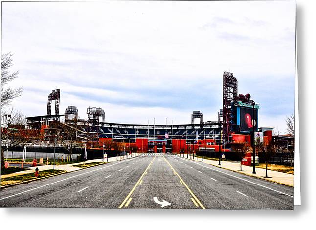 Philadelphia Phillies Stadium Digital Greeting Cards - Phillies Stadium - Citizens Bank Park Greeting Card by Bill Cannon