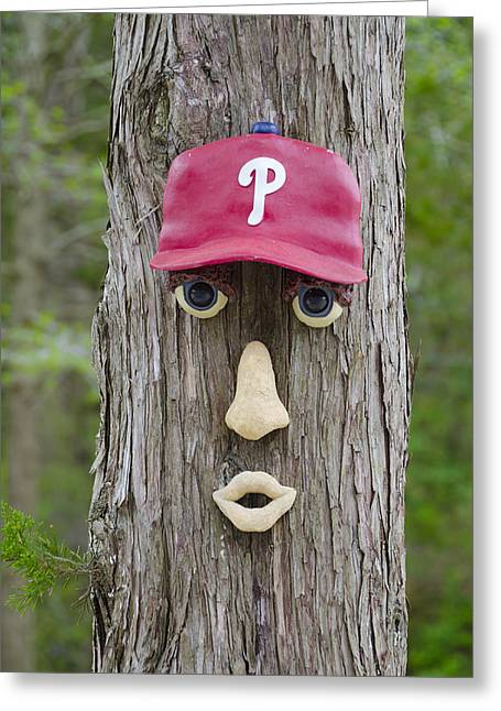 Phillies Digital Greeting Cards - Phillies Tree of Life Greeting Card by Bill Cannon