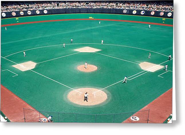 Professional Sports Greeting Cards - Phillies Vs Mets Baseball Game Greeting Card by Panoramic Images