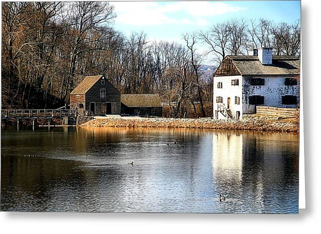 Grist Mill Greeting Cards - Phillips Manor Greeting Card by April Ann Canada Photography