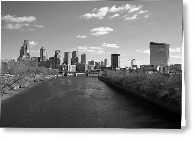 Schuylkill Greeting Cards - Philly b/w Greeting Card by Jennifer Lyon