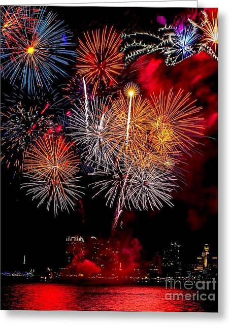 Independance Greeting Cards - Philly Fireworks 2014 Greeting Card by Nick Zelinsky