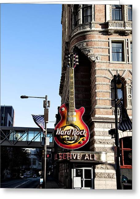 Phillies Digital Greeting Cards - Philly Hard Rock Cafe Les Paul Sign Greeting Card by Bill Cannon