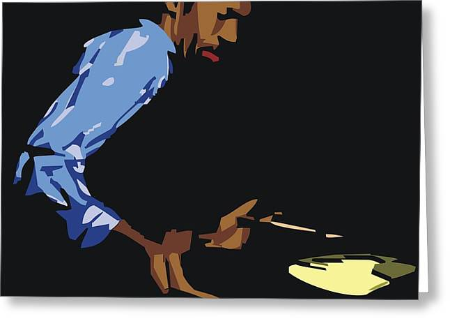 African-american Digital Greeting Cards - Philly Joe Jones Greeting Card by Walter Oliver Neal