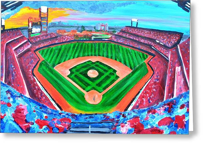 Philly Park Greeting Card by Jennifer Virgin