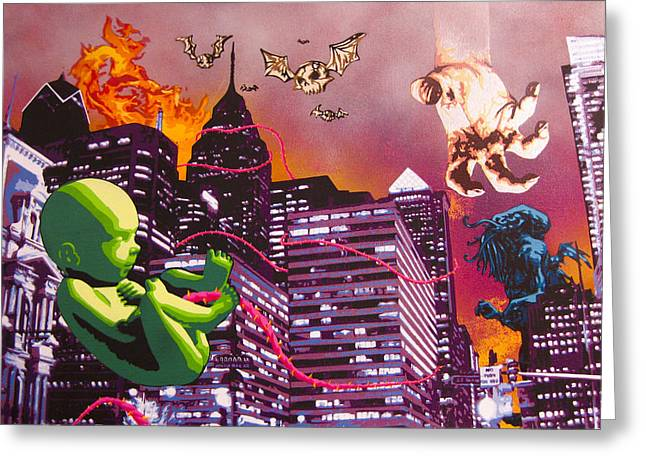 Philly Rapture Greeting Card by Bobby Zeik