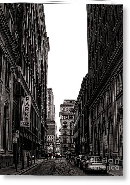 Philly Street Greeting Card by Olivier Le Queinec