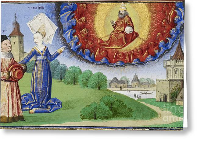 Consolation Greeting Cards - Philosophy Instructs Boethius On God Greeting Card by Getty Research Institute