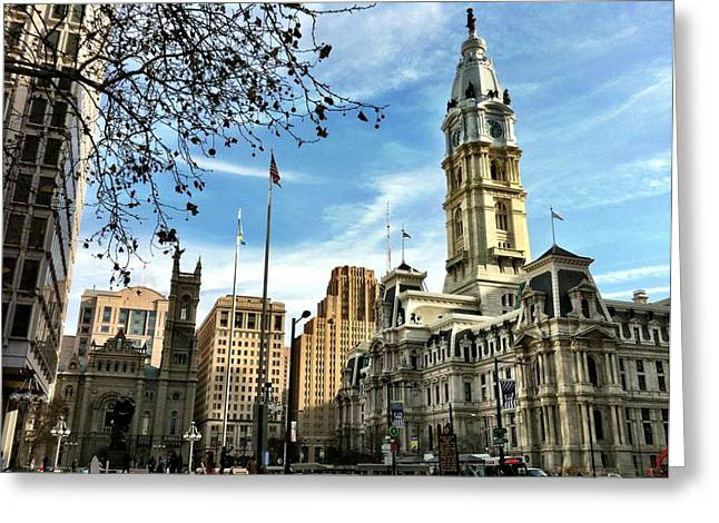 Philadelphia Framed Prints Greeting Cards - Phily Greeting Card by Ann Willmore