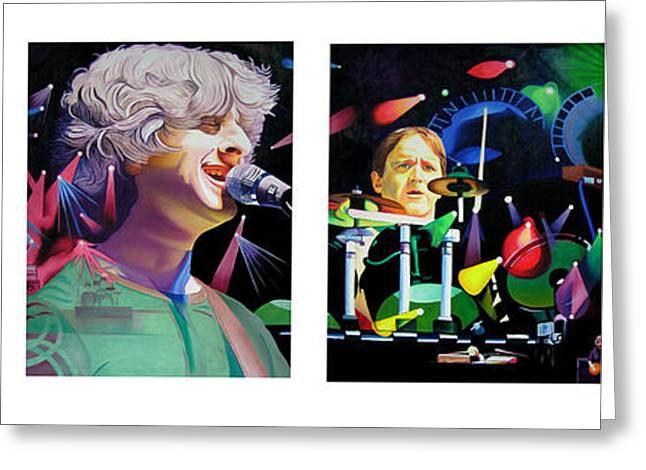 Musician Greeting Cards - Phish Full Band Greeting Card by Joshua Morton