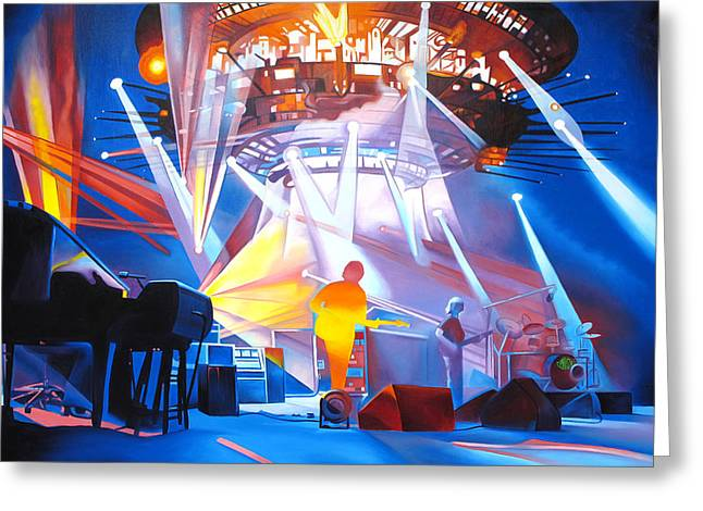 Stage Greeting Cards - Phish-In Deep Space Greeting Card by Joshua Morton