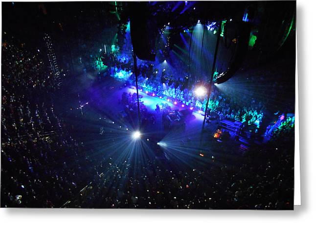 Trey Anastasio Greeting Cards - Phishin at Madison Square Garden Two Greeting Card by Kevin J Cooper Artwork