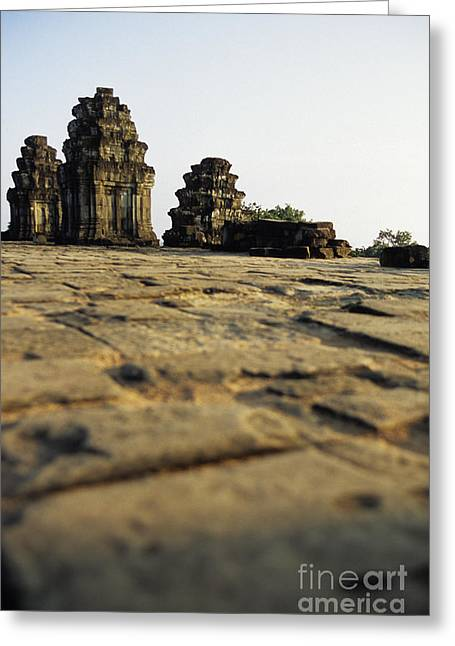 Religious Art Photographs Greeting Cards - Phnom Bakheng Cambodia Greeting Card by Ryan Fox