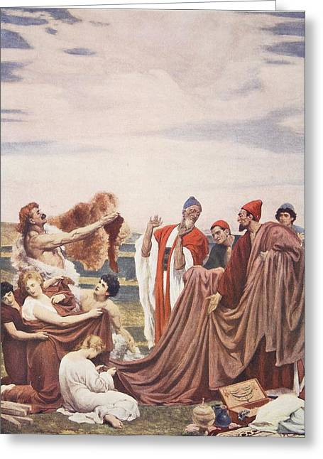 Phoenicians Trading With Early Britons Greeting Card by Frederic Leighton