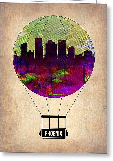 Extinct And Mythical Digital Art Greeting Cards - Phoenix Air Balloon  Greeting Card by Naxart Studio