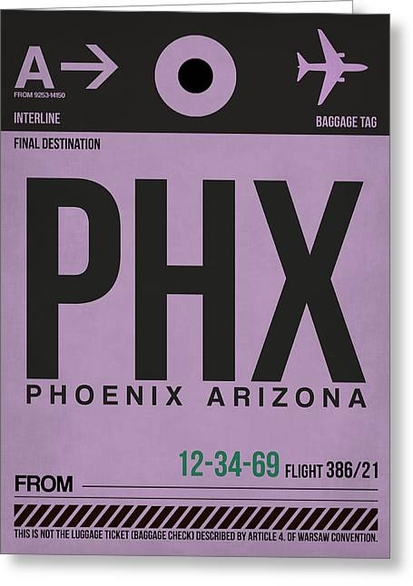 Tourists Greeting Cards - Phoenix Airport Poster 1 Greeting Card by Naxart Studio