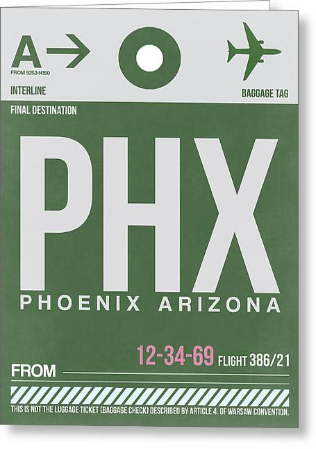 Phoenix Airport Poster 2 Greeting Card by Naxart Studio