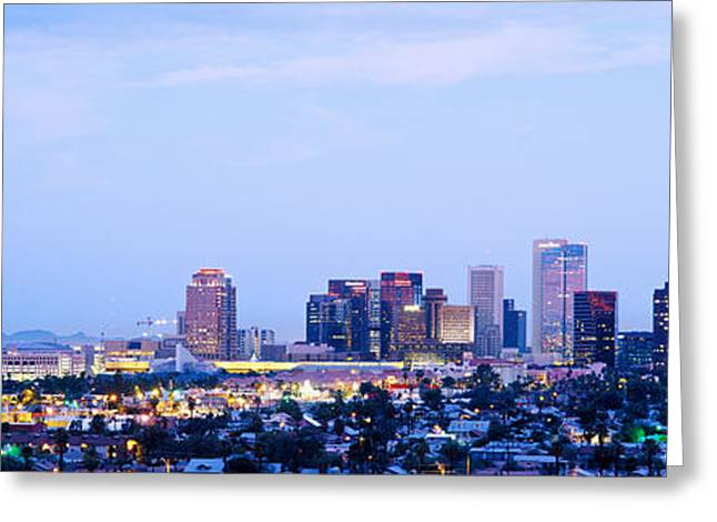 Phoenix Architecture Greeting Cards - Phoenix Arizona Usa Greeting Card by Panoramic Images