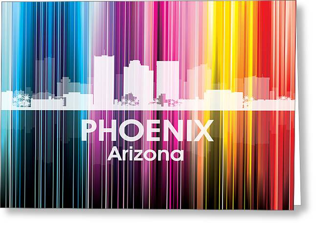 Concrete Jungle Mixed Media Greeting Cards - Phoenix AZ 2 Greeting Card by Angelina Vick