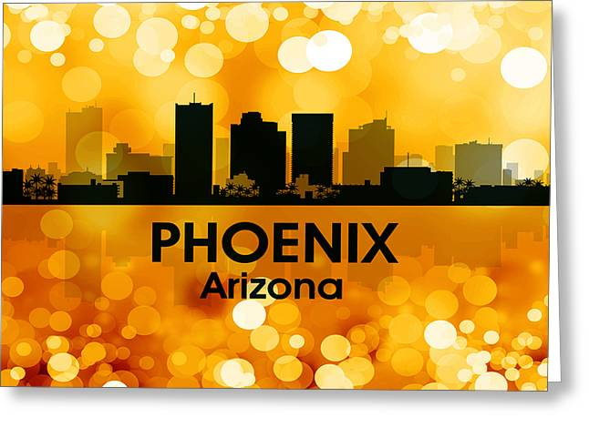 Concrete Jungle Mixed Media Greeting Cards - Phoenix AZ 3 Greeting Card by Angelina Vick