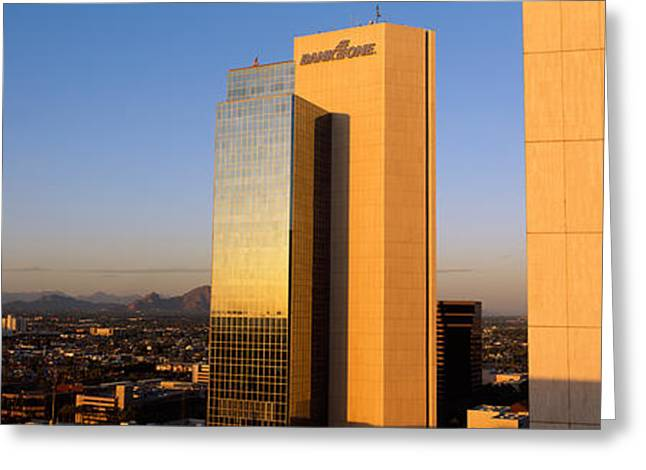 Corporate Business Greeting Cards - Phoenix Az Greeting Card by Panoramic Images