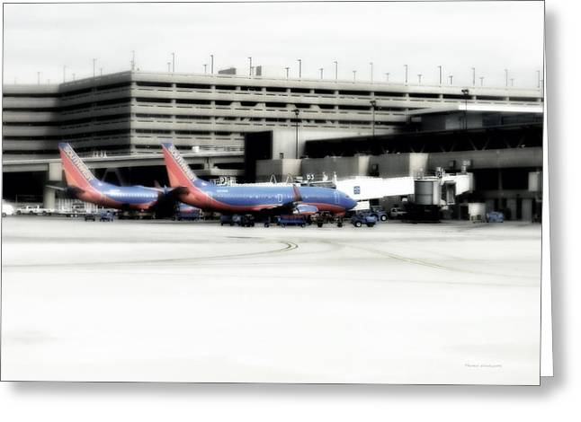 Airoplane Greeting Cards - Phoenix AZ Southwest Planes Greeting Card by Thomas Woolworth