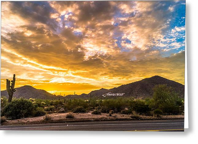 Casey Greeting Cards - Phoenix By Sundown Greeting Card by Casey Stanford