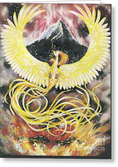 Phoenix Greeting Card by Charity Goodwin