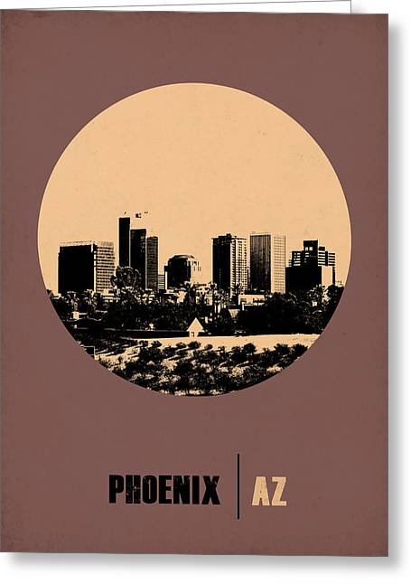 Phoenix Posters Greeting Cards - Phoenix Circle Poster 2 Greeting Card by Naxart Studio