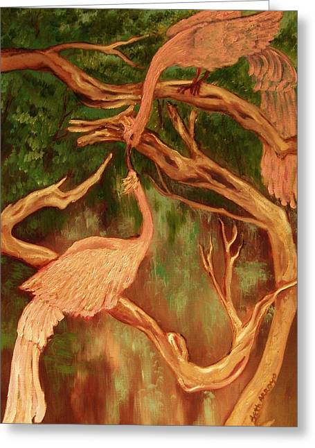 Phoenix-dares To Love Again Greeting Card by Beth Arroyo