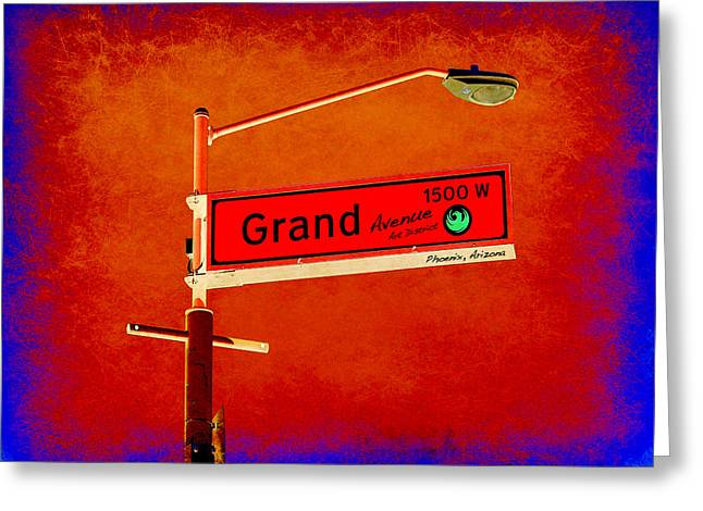 Office Space Digital Art Greeting Cards - Phoenix Grand Avenue Greeting Card by Taylor Steffen SCOTT