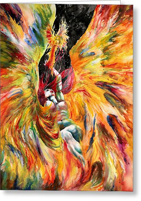 Kd Greeting Cards - Phoenix Greeting Card by Kd Neeley