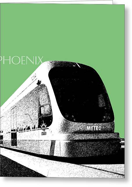 Arizona Prints Greeting Cards - Phoenix Light Rail - Apple Greeting Card by DB Artist