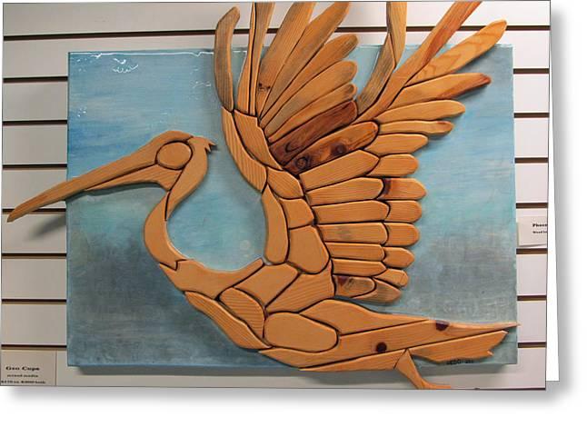 Phoenix Pelican Greeting Card by Dedo Cristina
