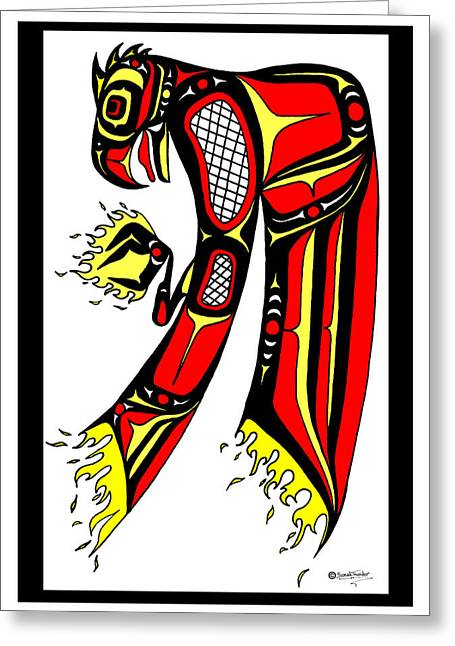 Speakthunder Berry Greeting Cards - Phoenix red and yellow Greeting Card by Speakthunder Berry