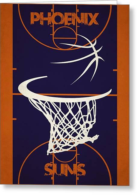 Phoenix Suns Greeting Cards - Phoenix Suns Court Greeting Card by Joe Hamilton