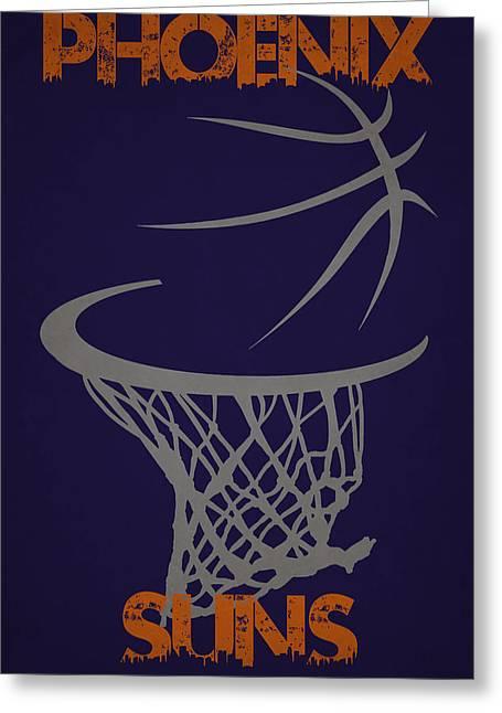 Phoenix Suns Greeting Cards - Phoenix Suns Hoop Greeting Card by Joe Hamilton