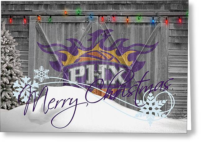Dunk Photographs Greeting Cards - Phoenix Suns Greeting Card by Joe Hamilton