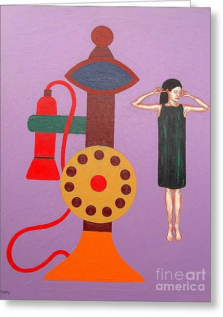 Breakup Greeting Cards - Phone Call Greeting Card by Patrick J Murphy